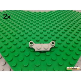 LEGO® 2Stk Platte 1x2 modifiziert / 1x4 mit Halter alt-hellgrau 4590