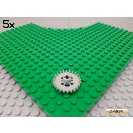 LEGO® 5Stk Technic Zahnrad 24 Zähne alt-hellgrau 3650
