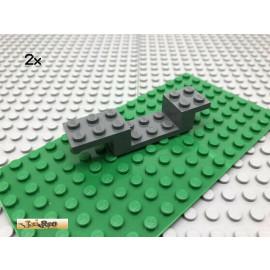 LEGO® 2Stk 2x8 Winkelpaltte Fahrgestell Auto Grau, Dark Gray 4732