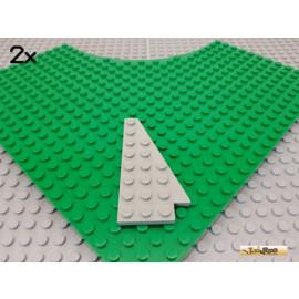 LEGO® 2Stk Keil / Flügelplatte 8x4 rechts alt-hellgrau 3934