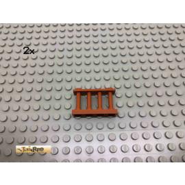 LEGO® 2Stk 1x4x2 Zaun Dunkelorange, Braun Orange 30055 14