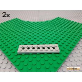 LEGO® 2Stk Technic Platte 2x8 alt-hellgrau 3738
