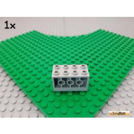 LEGO® 1Stk Stein / Konverter Montageblock 2x4x2 alt-hellgrau 6061