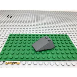LEGO® 4Stk 4x4 Schrägstein Keilstein Cockpit  Dunkel Grau, Dark Gray 48933