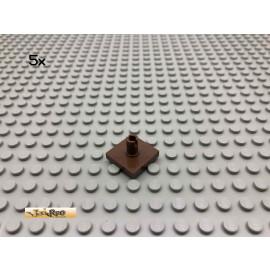 LEGO® 5Stk 2x2 Platte Pin senkrecht Brick Braun, Brown 2460 146