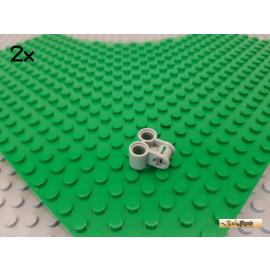 LEGO® 2Stk Technic Doppelpin-Achse Verbinder alt-hellgrau 32291