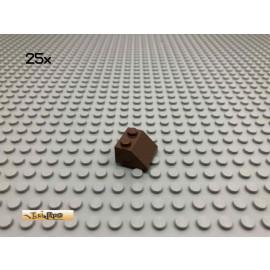 LEGO® 25Stk 2x2 45° Schrägstein Dachstein Brick Braun, Brown 3039 65