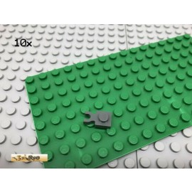LEGO® 10Stk 1x1 Platte Plate mit Clip Dunkel Grau,Dark Gray 4085