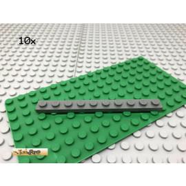 LEGO® 10Stk 1x10 Platte Plate Basic Dunkel Grau,Dark Gray 4477