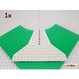 LEGO® 1Stk Keil / Flügelplatte 14x16 alt-hellgrau 6219