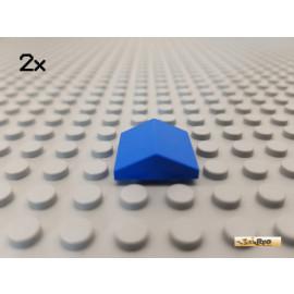 LEGO® 2Stk Dachstein / Firststein / Endstein 2x2 blau 3300