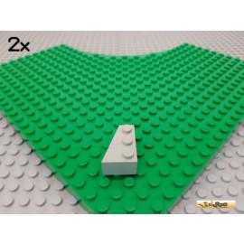 LEGO® 2Stk Keilstein / Flügel links 2x3 alt-hellgrau 6565