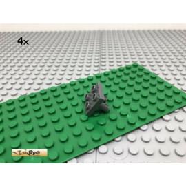 LEGO® 4Stk 2x2 Technic Platte mit 2 Pin unten Dunkel Grau, Dark Gray 15092