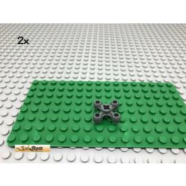 LEGO® 2Stk Technic Knopf Rad Zahnrad Grau, Dark Gray