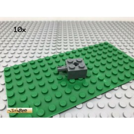 LEGO® 10Stk 2x2 Stein Achse 1 Pin Technic Basic Dunkel Grau, Dark Gray 6232
