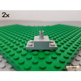 LEGO® 2Stk Stein / Platte 2x4 mit Pin alt-hellgrau 30592