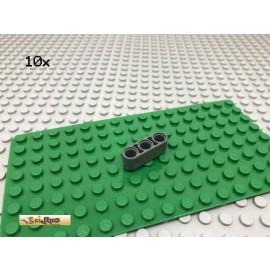 LEGO® Technic 10Stk Liftarm 3loch Dunkel Grau, Dark Gray 32523