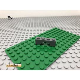 LEGO® 5Stk 1x4 Brückenstein Bogen Dunkel Grau, Dark Gray 3659