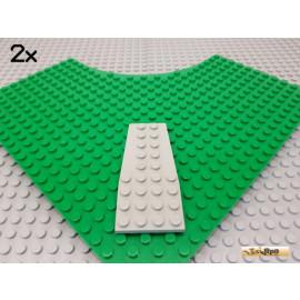 LEGO® 2Stk Keil / Flügelplatte 4x9 alt-hellgrau 2413