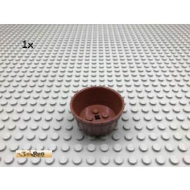 LEGO® 1Stk 4x4x2 Fass Wanne Kübel Brick Rotbraun, Reddish Brown 64951 66