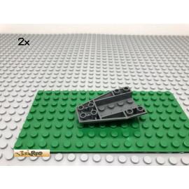 LEGO® 2Stk 6x4 Keilstein Boot Dunkel Grau, Dark Gray 43713