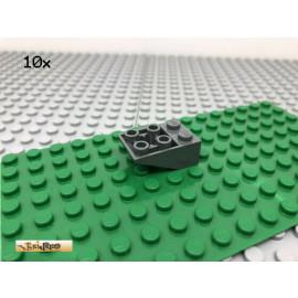 LEGO® 10Stk 2x3 Dachstein Schrägstein Negativ Basic Dunkel Grau, Dark Gray 3747