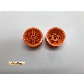 Lego 2x Felge orange 56145