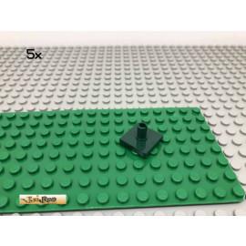 LEGO® 5Stk 2x2 Fliese mit Pin mittig Dunkelgrün, Dark Green 2460 20