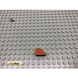LEGO® 3Stk 1x2 45° Dachstein Schrägstein Dunkelorange, Braun Orange 3040 11