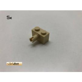 LEGO® 5Stk 1x2x1 mit Pin Basic Brick Beige, Tan 2458 x