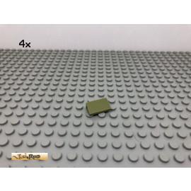 LEGO® 4Stk 1x2 30° Fliese Platte Plate Schrägstein Olivgrün, olive green 85984 1