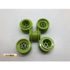 Lego 5x Felge grün 6580