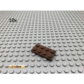 LEGO® 10Stk 2x4 Platte Brick Braun, Brown 3020 150