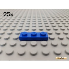 LEGO® 25Stk Platte Basic 1x3 blau 3623