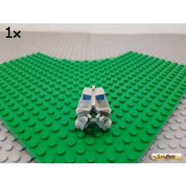 LEGO® 1Stk Bionicle Kopf alt-hellgrau mit blau-transparentem Gehirn 32553