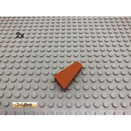 LEGO® 2Stk 2x1x3 75° Schrägstein Dunkelorange, Braun Orange 4460 8