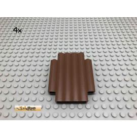 LEGO® 4Stk 2x6x6 Panel Palisadensteine Western Ritter Brick Braun,Brown 30140 88