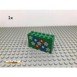 LEGO® 1Stk 2x6x3 Blume bedruckt Grün, Green 4134 217