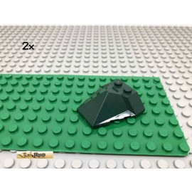 LEGO® 2Stk 4x4x1 Keilstein Schrägstein Dunkelgrün, Dark Green 47757 49