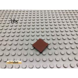 LEGO® 10Stk 2x2 Fliesen Brick Rotbraun, Reddish Brown 3068 117