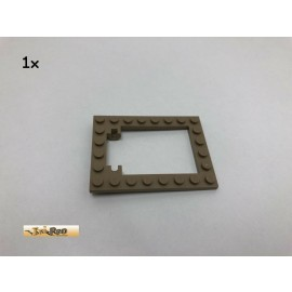 LEGO® 1Stk 6x8 Falltür Rahmen Brick Dunkelbeige, Dark Tan 30041 37