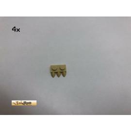 LEGO® 4Stk 1x2 Platte mit 3 Krallen Brick Beige, Tan 15208 151