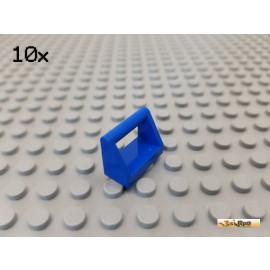 LEGO® 10Stk Fliese / Platte 1x2x1 mit Griff / Bügel blau 2452