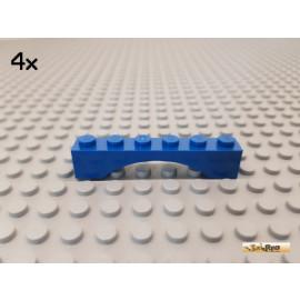 LEGO® 4Stk Bogen / Bogenstein / Fenster 1x6x1 blau 3455