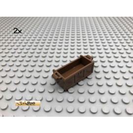 LEGO® 2Stk Schatzkiste ohne Deckel Braun, Brown 4738 93