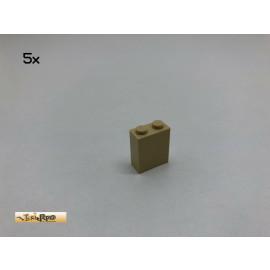 LEGO® 5Stk 1x2x2 Basic Stein Brick Beige, Tan 3245 120