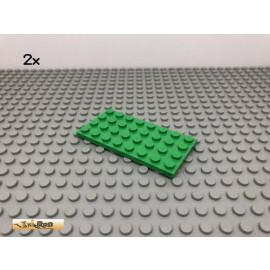 LEGO® 2Stk 4x8 Platte Plate Hellgrün, light green 3035 19