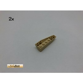 LEGO® 2Stk 6x2 Schräg Keil Bau Stein Basic Brick Beige, Tan 41765 20
