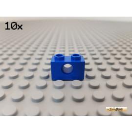 LEGO® 10Stk Technic Lochstein / Lochbalken 1x2 blau 3700