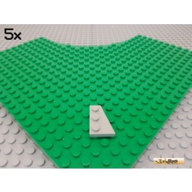 LEGO® 5Stk Keil / Flügelplatte 2x3 rechts alt-hellgrau 43722